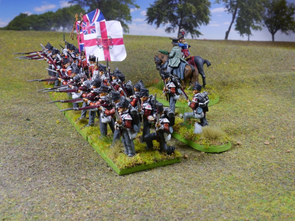 Napoleonic British 32nd regiment of foot from Perry Miniatures