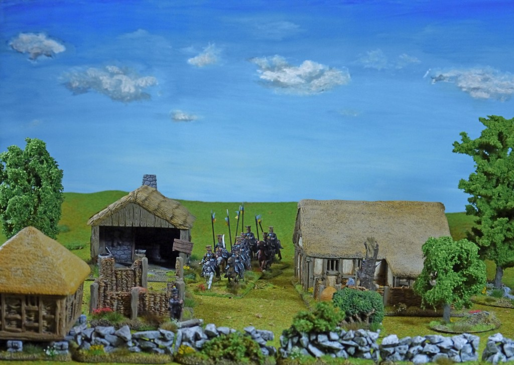 Perry Napoleonic Brunswickers in Grand Manner Village
