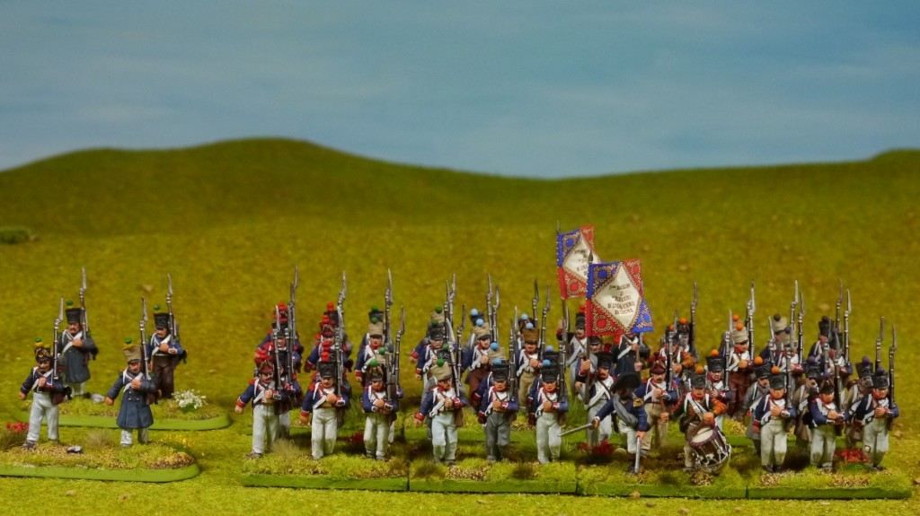 Two Perry Napoleonic French battalions
