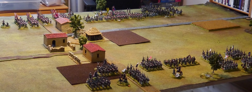 Perry Miniatures French and British finally standing on the table and awaiting to see action